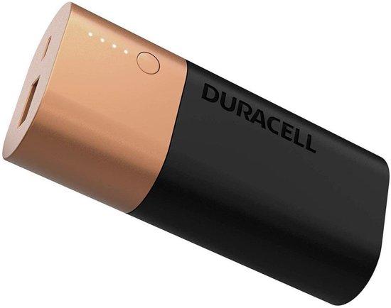 Afbeelding van Duracell Powerbank - 6.700 mAh - Zwart/Goud