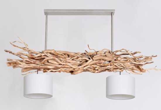 Super bol.com   hanging takken lamp 2 kapjes frame 150 cm met witte kapjes ST-78