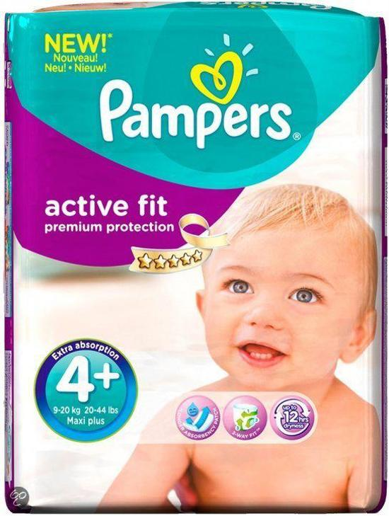 M Pampers Active Fit - Maat 4 (Maxi) 8-16 kg - Maandbox 168