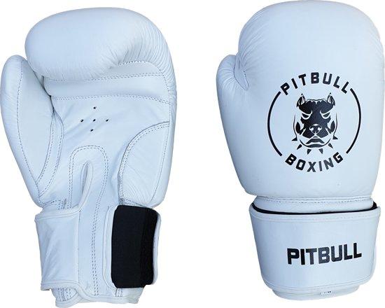 Pitbull Boxing - Bokshandschoenen - Wit Double Strap - 12 oz