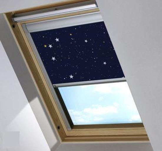 Bloc verduisterend dakraamgordijn geschikt voor Fakro FTS/V 5 (78/98), Night Sky