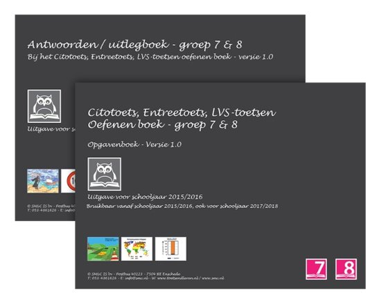 Citotoets Entreetoets LVS toetsen oefenen boeken set 2015 2016 groep 7 8 Opgaven en Antwoorden Uitlegboek versie 1 0