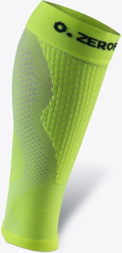 ZeroPoint compressie calf sleeves Neongeel - L