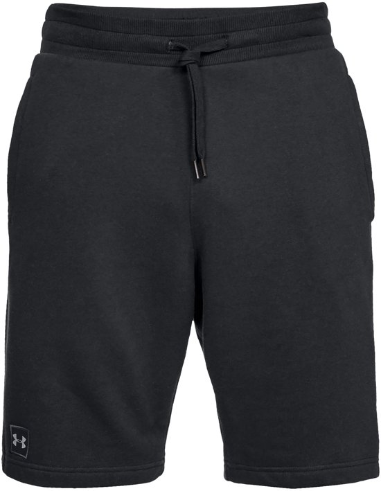 Under Armour Rival Fleece Short Heren Sport Broek - Zwart - Maat L
