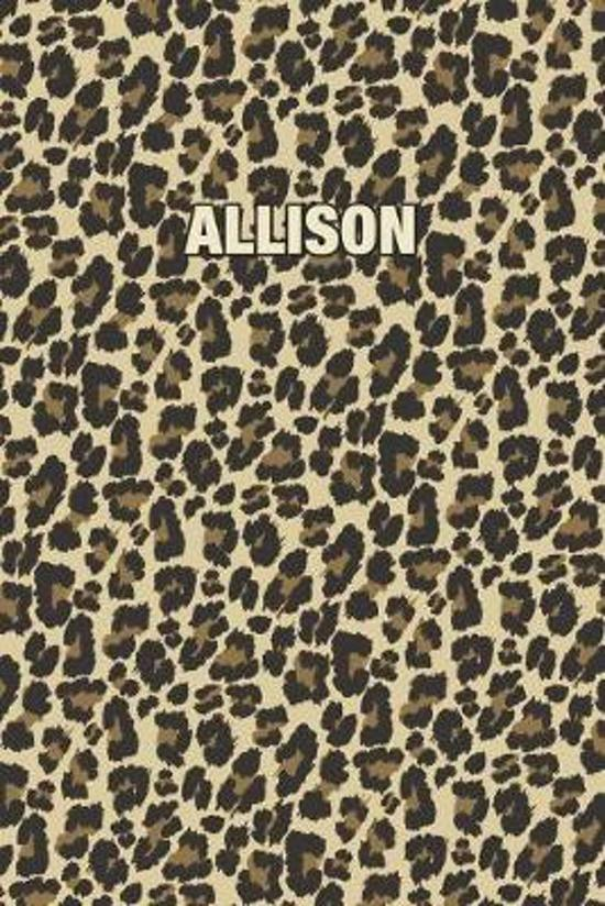 Allison: Personalized Notebook - Leopard Print (Animal Pattern). Blank College Ruled (Lined) Journal for Notes, Journaling, Dia