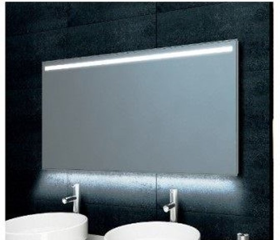 wiesbaden ambi one badkamerspiegel condensvrij dimbare led spiegel 100 x 60 cm. Black Bedroom Furniture Sets. Home Design Ideas