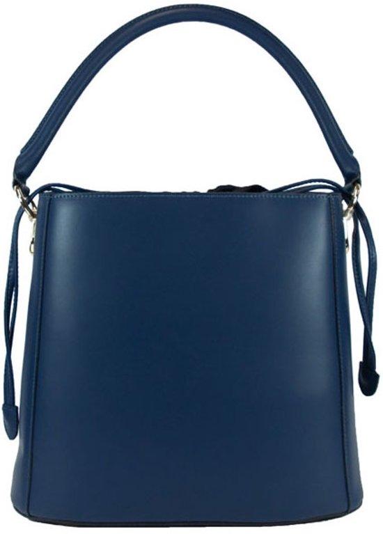 045dc083eec bol.com | Handtas schoudertas buidel leer donkerblauw
