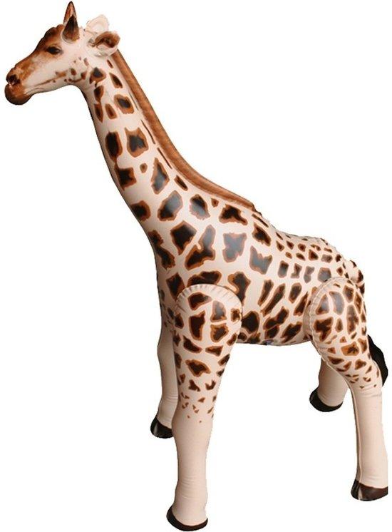 Opblaasbare giraffe 90 cm decoratie/speelgoed - Buitenspeelgoed waterspeelgoed - Opblaasdieren decoraties
