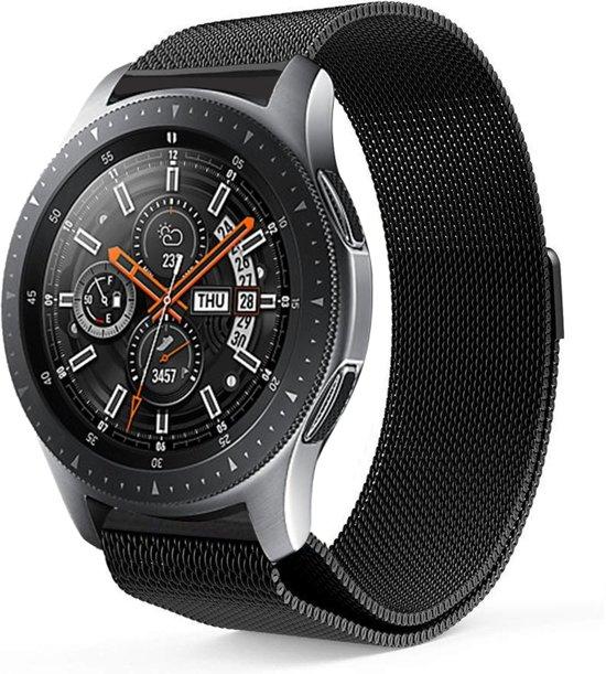 Milanese Loop Armband Voor Samsung Galaxy Watch 46 MM Band Strap - Milanees Armband Polsband - Zwart