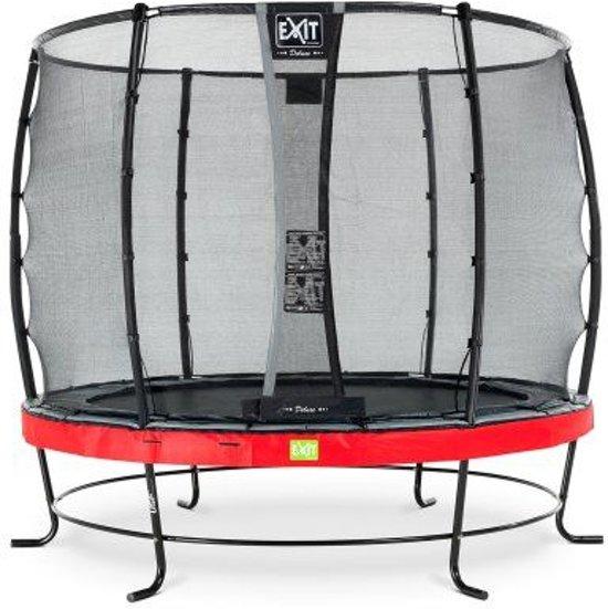 EXIT Elegant trampoline ø305cm met veiligheidsnet Deluxe - rood