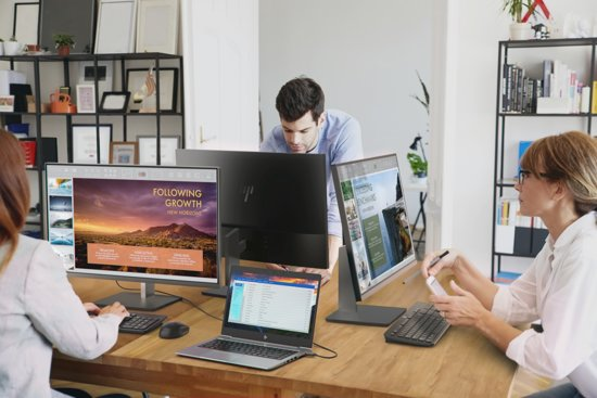 HP EliteDisplay S231d 23'' Full HD LED Zwart computer monitor