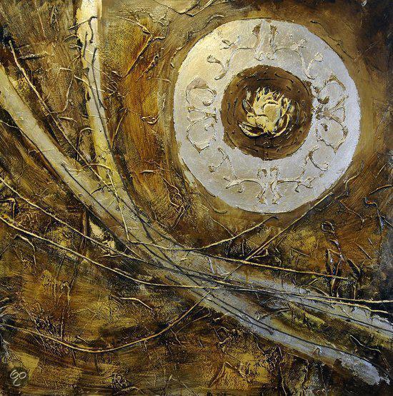 Boeddha Schilderij 100cmx100cm
