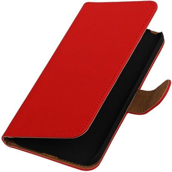 Rood Effen booktype cover hoesje voor LG G5