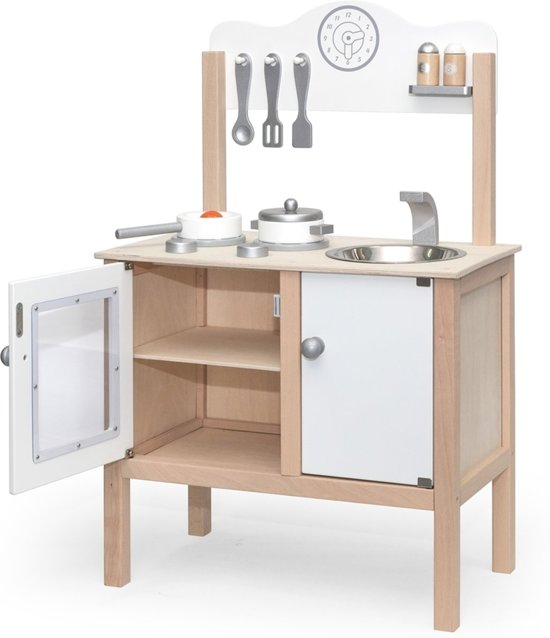 Keuken Accessoires Kinderkeuken : bol.com Viga Toys – Kinderkeuken – Nobel – Wit