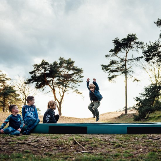 Etan Inground Hi-Flyer Trampoline Ø244 cm - Groen - Rond - Zeer veilig - Hoog springcomfort