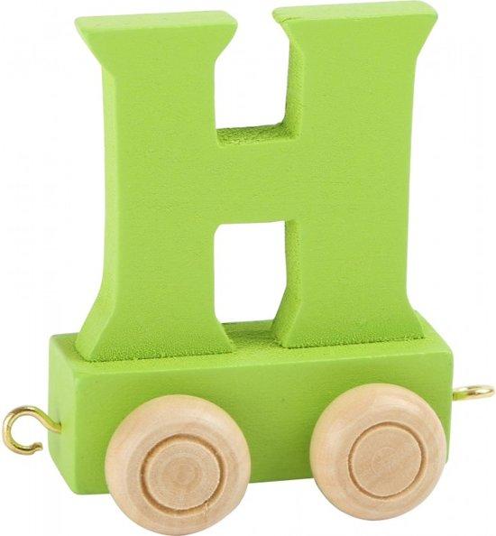Lettertrein - H - groen