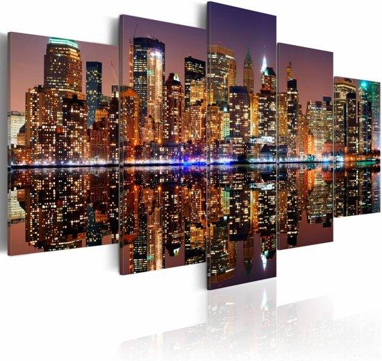 Schilderij - NYC - mirror reflection