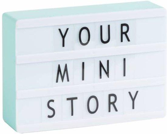 LEDR® Lightbox A6 Mint Warm Wit Licht – Inclusief 85 letters & symbolen – Inclusief USB kabel