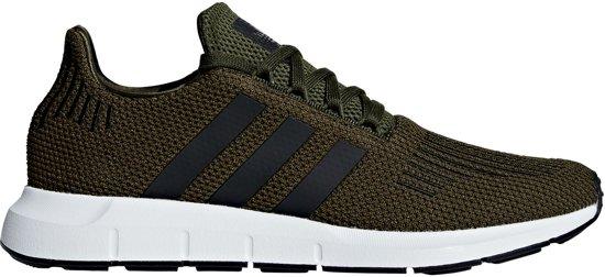 adidas sneakers wit met groen