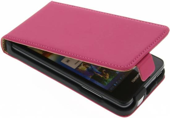 Mobiparts Premium Flip Case Huawei Ascend Y300 Pink in Goënga / Goaiïngea