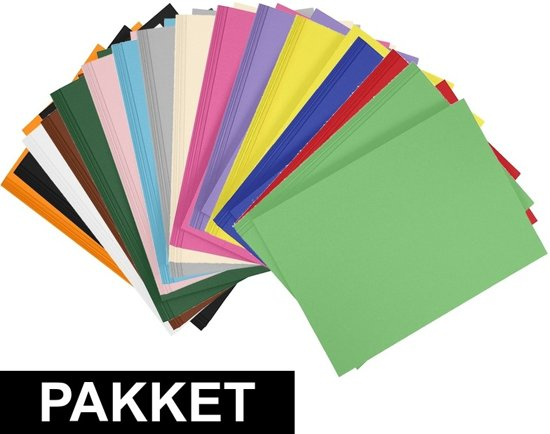 24x A4 hobby karton alle kleuren