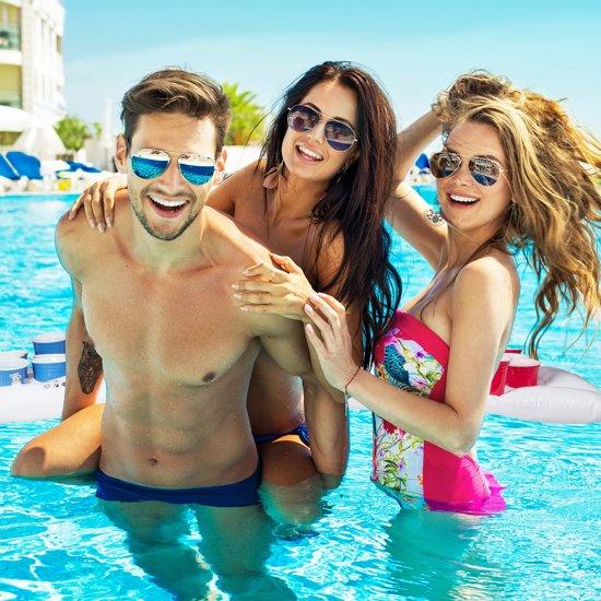 relaxdays Beer pong luchtbed - opblaasbare beer pong - luchtmatras - zwembad