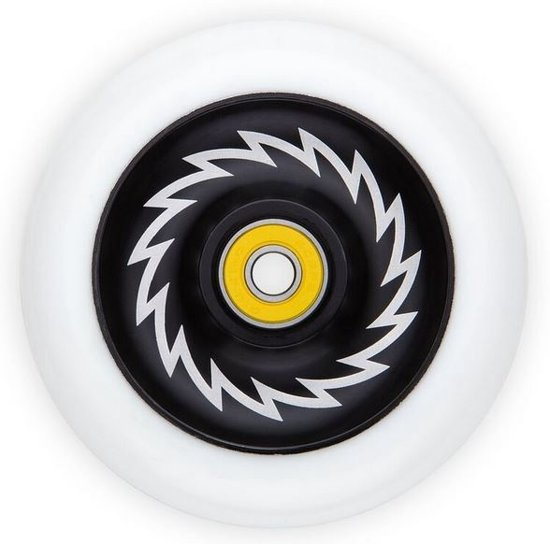 Razor Wiel 110 Mm Solid Alloy Core Zwart Wit Per Stuk