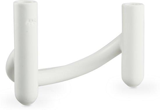Kahler Design Nellemann Vaas en Kandelaar in 1 -14 cm - Wit