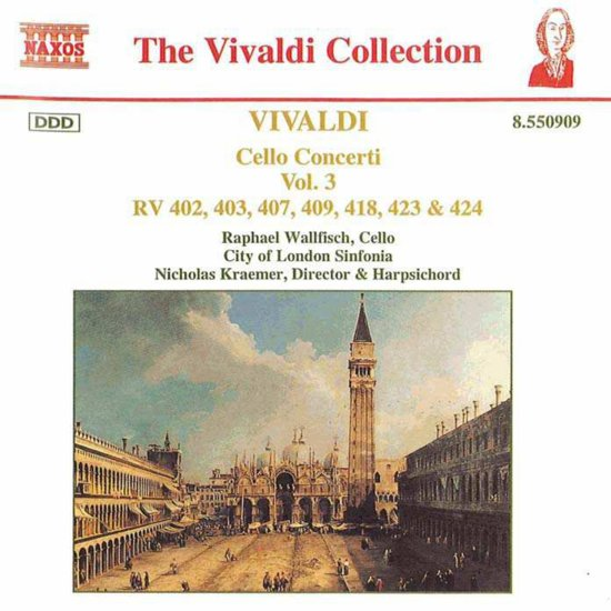 Cello Concerti Vol. 3 Rv 402, 403, 407, 409, 418, 423 & 424