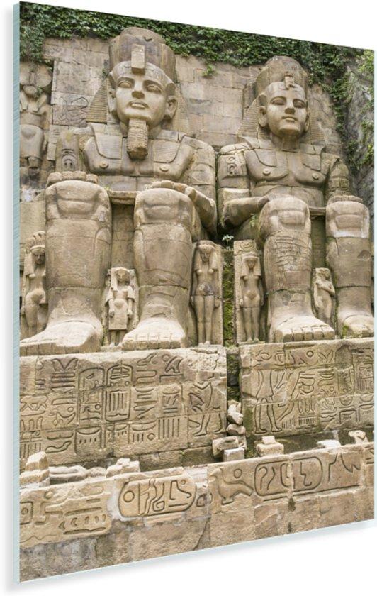 Grote tempel van Abu Simbel in Egypte Plexiglas 60x90 cm - Foto print op Glas (Plexiglas wanddecoratie)