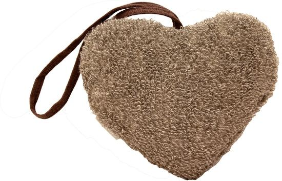 Emendo - Linnen scrubwashand in hart vorm