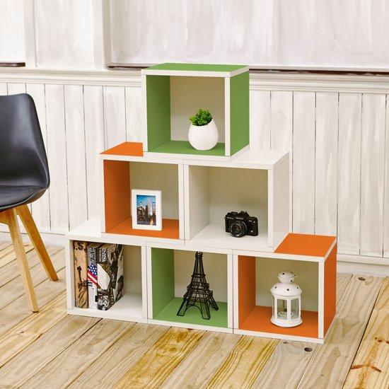 way basics kubussen boekenkast multi zboard set van 6