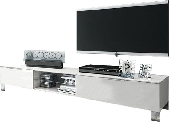 Metalen Tv Kast : Bol benvenuto design sola tv meubel wit hout metaal