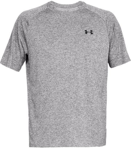 Under Armour Tech 2.0 SS Tee Sportshirt Heren - Charcoal Light Heather - Maat L