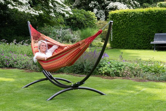 Hangmat met Standaard Tweepersoons 'Arc & Chill' Happy