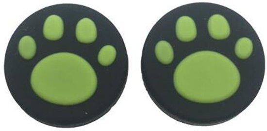KELERINO. Thumb Grip voor Nintendo Switch - 2 stuks - Cat - Groen