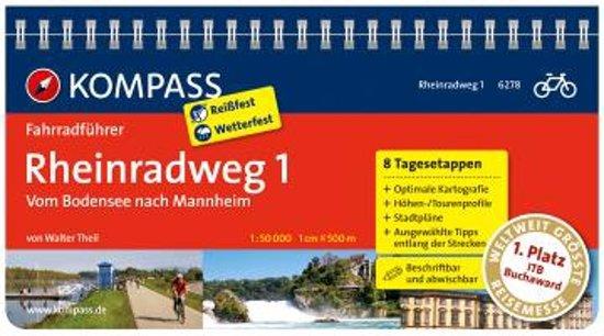 RF6278 Rheinradweg 1, Bodensee nach Mannheim Kompass - Kompass |