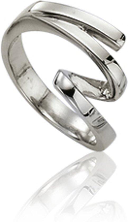 Slate - Stalen ring zonder steen Maat 52 - Met krul