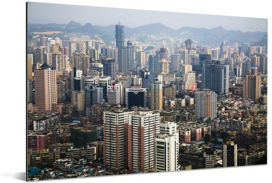 Skyline van Guiyang op een zonnige dag in Azië Aluminium 120x80 cm - Foto print op Aluminium (metaal wanddecoratie)