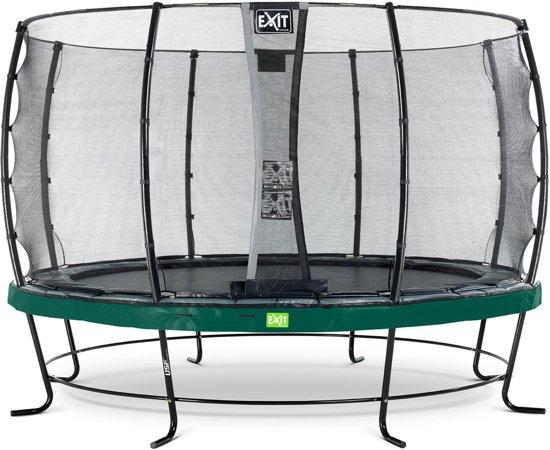 EXIT Elegant trampoline ø427cm met veiligheidsnet Economy - groen