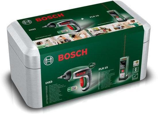 bosch cadeauset inclusief bosch ixo 4 accuschoefmachine en bosch plr 15 afstandsmeter. Black Bedroom Furniture Sets. Home Design Ideas