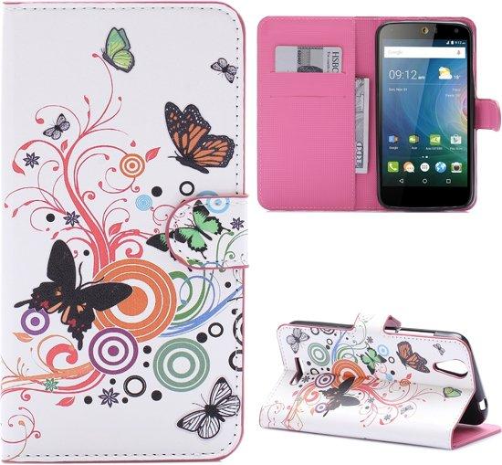 Acer Liquid Z630(S) Bookcase Hoesje - Portemonnee Hoesje - Telefoonhoesje - Cover - Bookstyle Hoesje - Booktype Hoesje - Klap Hoesje - Flip Cover - Smartphonehoesje - Wallet Hoesje - Boek Hoesje - Book Case - Portefeuille Hoesje - Case - Bookstyle Case - Hoes - Beschermhoesje - Wallet Case - Vlinders in Passendale