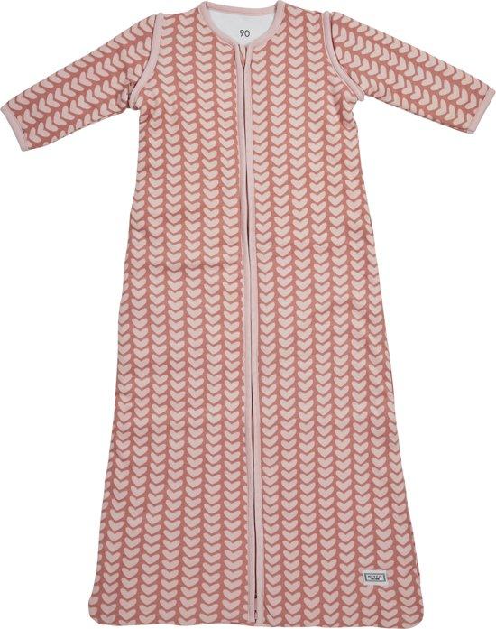 Meyco Knitted Heart Slaapzak met afritsbare mouw - 70 cm