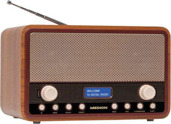MEDION® LIFE E66312 DAB+ Retro Radio (bruin)