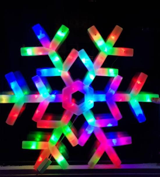 Bol Com Gekleurde Sneeuwvlokken Led Sneeuwvlok Verlichting