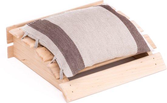 ec3090aed4f Emendo - Sauna hoofdsteun met kussentje - bruin, 25x24 cm
