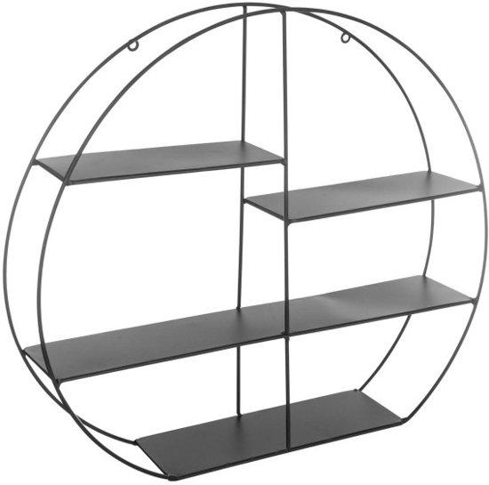 Wandplank Diepte 40 Cm.Bol Com Metalen Wandrek Rond Wandbox Wandplank O48 Cm Zwart