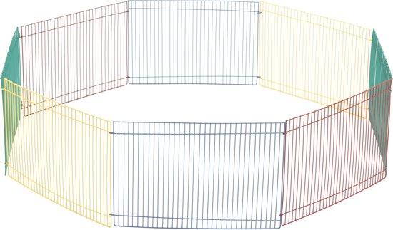 Beeztees Knaagdierenren - 8 Panelen 23 x 34cm - 85 x 85 x 34 cm - Multi