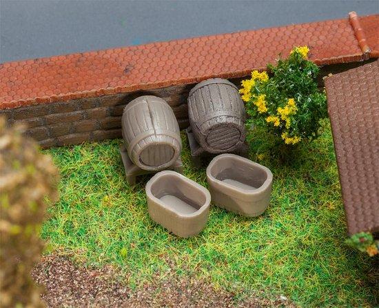 Faller - 4 Vaten en 4 tonnen