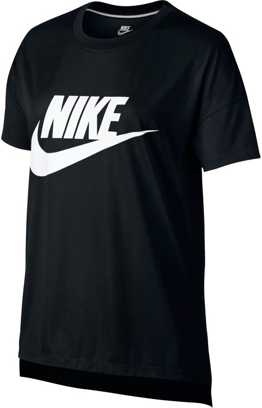 73f72658d04 bol.com | Nike Signal Sportshirt - Maat M - Vrouwen - zwart/wit